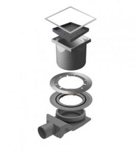 13000088 Трап водосток Pestan Confluo Standard Ceramic 4 150*150 под плитку нержавеющая сталь с рамкой