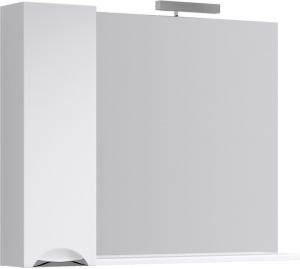 Зеркало с подсветкой и шкафчикомAqwella Лайн 105 Li.02.10