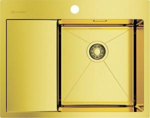4973084 Omoikiri Мойка Akisame 65-LG-R нерж.сталь светлое золото