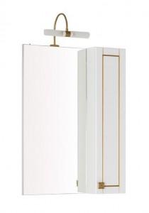 Зеркало-шкаф Aquanet Честер 60 00186087, цвет белый, патина золото