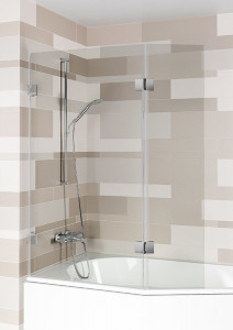 GC60200 Стеклянная шторка для ванны Riho Scandic S500 118 x 150 см