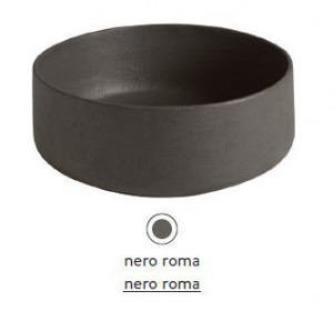 COL001 20; 00 Раковина ArtCeram Cognac Countertop, накладная, цвет - nero roma, 42 х 42 х 16 см