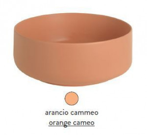 COL002 13; 00 Раковина ArtCeram Cognac, накладная, цвет - arancio cammeo (оранжевый камео), 48 х 48 х 12,5 см
