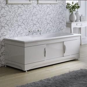 1409 Экран для ванны Alavann МДФ Monaco 150 см, белый