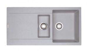 114.0201.286 Мойка Franke MARIS MRG 651,, гранит, установка сверху, оборачиваемая, цвет серебристый, 97*50 см