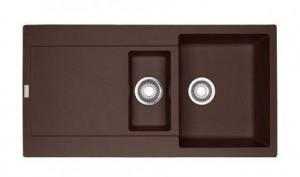 114.0198.476 Мойка Franke MARIS MRG 651,, гранит, установка сверху, оборачиваемая, цвет шоколад, 97*50 см