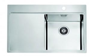 1103610 Мойка кухонная Alveus PURE 20 SAT-90 790 x 525, левая/правая