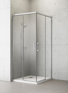 387062-01-01L/387063-01-01R Душевой уголок Radaway Idea KDD 100 x 110 см, стекло прозрачное