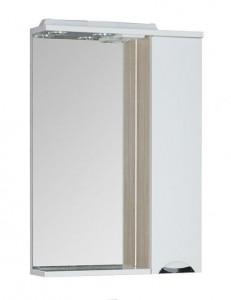 Зеркало-шкаф Aquanet Гретта 60 00173985, цвет светлый дуб