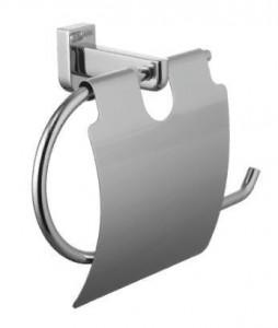 Держатель туалетной бумаги Lemark Omega LM3134C, с крышкой