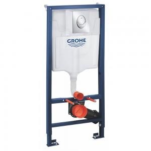 39503000 GROHE Rapid SL Система инсталляции, комплект 3 в 1 для подвесного унитаза с панелью смыва и ревизионным коробом