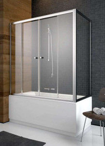 203140-01 Шторка на ванну Radaway Vesta DWD 140 прозрачное стекло