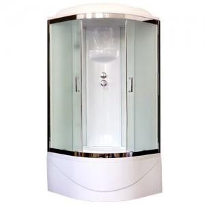 RB100BK6-WC-CH Душевая кабина Royal Bath  100 x 100 x 217 см, двери матовые, задние стенки белые, хром