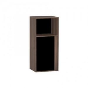 Шкаф Vitra Metropole 58208 40 см, левосторонний, цвет сливовое дерево, фасад черное акриловое стекло