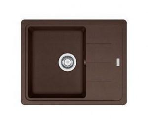 114.0280.844 Мойка Franke BASIS BFG 611 C,, гранит, установка сверху, оборачиваемая, цвет шоколад, 62*50 см