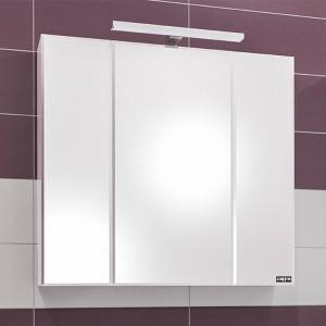 Зеркальный шкаф СаНта Стандарт 90 113018, цвет белый, с подсветкой
