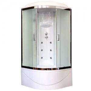 RB100BK3-WC-CH Душевая кабина Royal Bath 100 x 100 x 217 см, двери матовые, задние стенки белые, хром