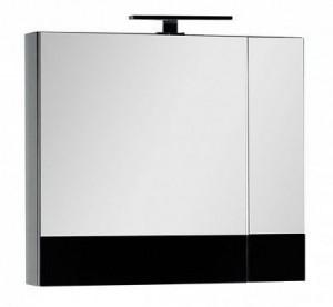 Зеркало-шкаф Aquanet Верона 70 (камерино), черный, 00186370