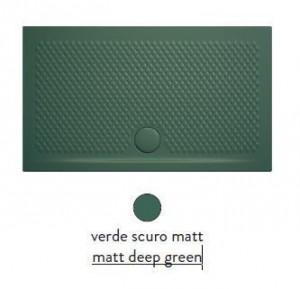 PDR017 30; 00 Поддон ArtCeram Texture 90 х 70 х 5,5 см,, прямоугольный, цвет - verde scuro matt (темно-зеленый), из искусственного камня