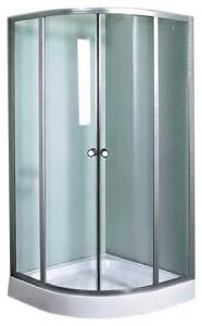 HYSW-2110F Душевой уголок Aqualux, 100 x 195 x 100 см, стекло прозрачное