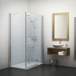 132-100000P-00-02/133-900000L-00-02 Душевой уголок Roltechnik Elegant Line 100 х 90 см, правая дверь, стекло прозрачное