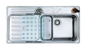 127.0016.450 Мойка Franke LARGO LAX 214,, установка сверху, SlimTop, правая, нержавеющая сталь, полированная, 100*51 см