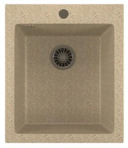 ML-GM14 (311) Кухонная мойка Mixline, врезная сверху, цвет - светло-розовый, 42 х 49 х 19 см