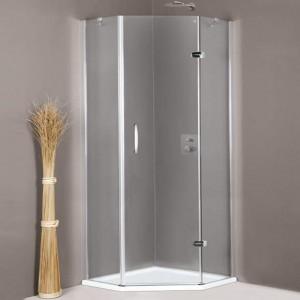 401102 055 321 Душевой уголок Huppe Aura Elegance 401102, 100 х 100 см, стекло прозрачное