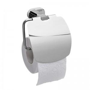 Держатель туалетной бумаги Raiber R50109, с крышкой, хром