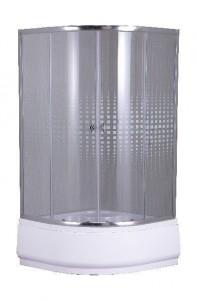 Z901 Душевой уголок Parly, 90 х 90 х 193, стекло узорчатое