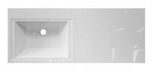 ФР-00001490 Раковина Эстет Даллас 120, левая, 120.2 х 48.2 х 14.5 см