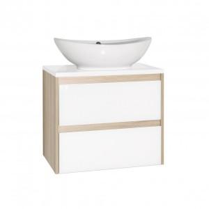 ЛС-00000633 Тумба под раковину Style Line Монако 70 Plus, ориноко/белый лакобель