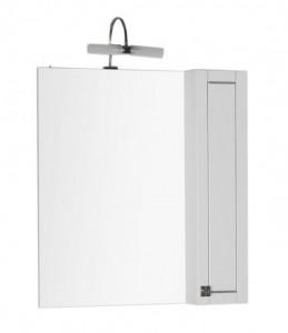 Зеркало-шкаф Aquanet Честер 75 00182632, цвет белый, патина серебро