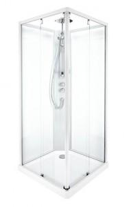 558.131.00.1/558.405.00.1/558.302.00.1/558.210.00.1 Душевая кабина IDO Showerama 10-5 Comfort квадратная, 90 x 90 см, профиль алюминий, стекло прозрачное