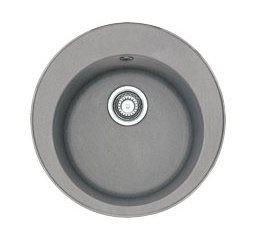 114.0175.160 Мойка Franke RONDA ROG 610-41,, гранит, установка сверху, цвет серый, 51*51 см