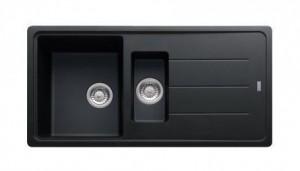 114.0259.962 Мойка Franke BASIS BFG 651,, гранит, установка сверху, оборачиваемая, цвет оникс, 97*50 см