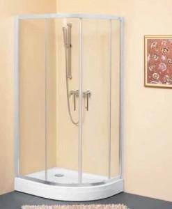 TKP 80x100 L Душевой уголок Kolpa-San Q line/R, 100 x 80 см, стекло прозрачное