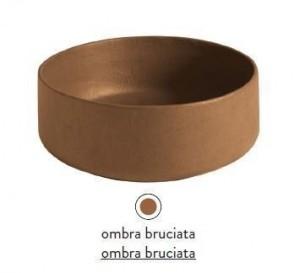 COL002 19; 00 Раковина ArtCeram Cognac, накладная, цвет - ombra bruciata, 48 х 48 х 12,5 см