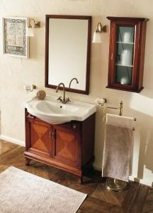 Комплект мебели для ванной комнаты Labor Legno MARRIOT Composizione M105, вишня/бронза, 85 см