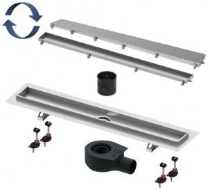 15103099 Душевой лоток TECE TECElinus, 90 см с основой для плитки tile и панелью steel 2 в 1