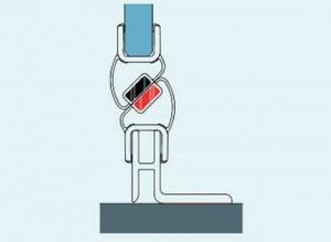 V.SOL.50 Компактный выравнивающий профиль SanSwiss для душевой двери в нишу с магнитом