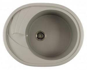 ML-GM17 (342) Кухонная мойка Mixline, врезная сверху, цвет - графит, 57 х 46.5 х 18 см
