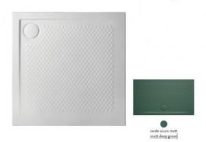 PDQ008 30; 00 Поддон ArtCeram Texture  90 х 90 х 5,5 см,, квадратный, цвет - verde scuro matt (темно-зеленый), из искусственного камня