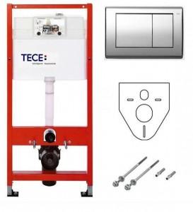 Инсталляция TECE ТecePlanus K400321 с клавишей смыва, для унитаза