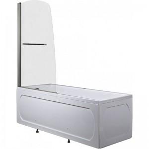 1MarKa-shtorkafront-white-150 Шторка на ванну 1MarKa P-03 профиль хром, стекло прозрачное