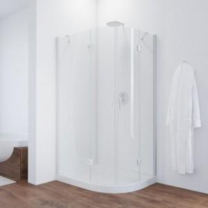 AFS-F 100*90 01 01 Душевой уголок Vegas Glass AFS-F, 100 x 90 см, белый, стекло прозрачное