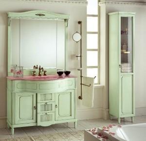 Комплект мебели Eurodesign Luigi XVI Композиция № 4, Verde Acqua patianato/Верде аква
