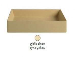 SCL001 12; 00 Раковина ArtCeram Scalino 38, накладная, цвет - giallo zinco (желтый цинк), 38 х 38 х 11.5 см