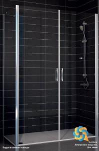 E2P-Fis 85*90 09 10 Душевой уголок Vegas Glass E2P-Fi, 85 x 90 x 190 см, стекло сатин