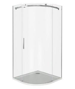 ГЛ00007 Душевое ограждение Good Door Galaxy R-100-C-CH 100 х 100 х 195 см,, стекло прозрачное, хром